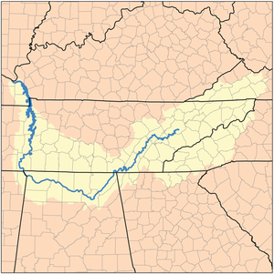 Tennessee River Map Tennessee Valley   Wikipedia Tennessee River Map