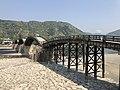 Tenshu of Iwakuni Castle and Kintaikyo Bridge 2.jpg