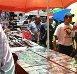 Tepito - A vendor selling unlicensed CDs in Tepito.