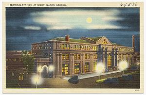 Terminal Station (Macon, Georgia) - Postcard view of Terminal Station circa 1930
