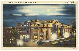 Terminal Station (Macon, Georgia) - Postcard view of Terminal Station circa 1930
