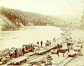 Terminus of portage tramway company at Miles Canyon Landing, Yukon Territory, 1899 (MEED 21).jpg