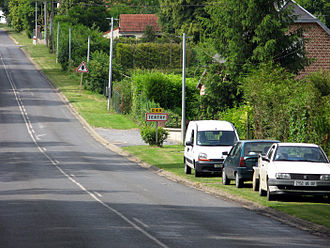 Tertry, Somme - The road into Tertry