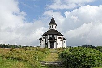 Kořenov - Protestant chapel by Otto Bartning