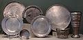 Tesoro di hildesheim, argento, I sec ac-I dc ca., piatti da parata, casseruola, situla.JPG