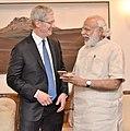The Apple CEO, Mr. Tim Cook calls on the Prime Minister, Shri Narendra Modi, in New Delhi on May 21, 2016 (4).jpg