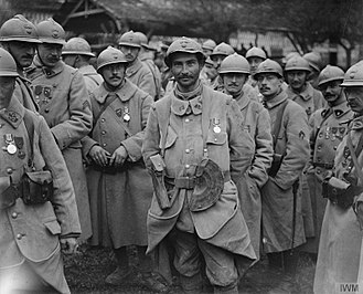 Military Medal - French soldiers, after having been awarded the Military Medal, Battle of the Somme 1916