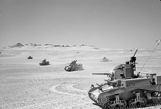 Royal Gloucestershire Hussars - M3 Stuarts belonging to 8th Hussars, who handed them over to the Royal Gloucestershire Hussars during Operation Crusader.