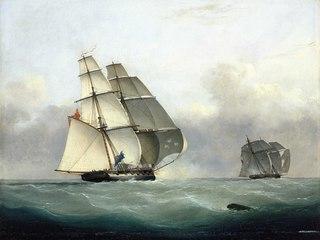 The Capture of the slaver Gabriel by HMS Acorn, 6 July 1841
