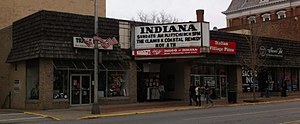 The Clarks - Image: The Clarks marque Indiana PA Main Street 2014