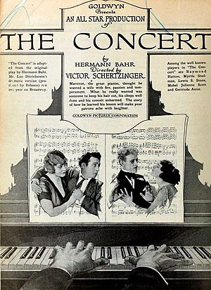 The Concert (1921 film) - Image: The Concert (1921) Ad 1