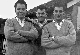 Col Loughnan - The Crescents, (l to r) Mike Downes, Col Loughnan, and Kel Palise.