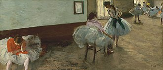 The Dance Lesson - The Dance Lesson by Edgar Degas