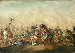 Battle of Cannae - The Death of Aemilius Paullus by John Trumbull, 1773