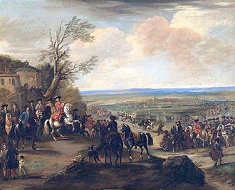 Battle of Oudenarde - Duke of Marlborough at the battle of Oudenaarde (painting by John Wootton)