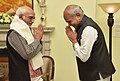 The Governor of Assam, Shri Banwarilal Purohit calling on the Vice President, Shri M. Hamid Ansari, in New Delhi on July 13, 2017.jpg