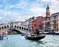 The Grand Canal, Gondola near Rialto Bridge - Venice, Italy - panoramio.jpg