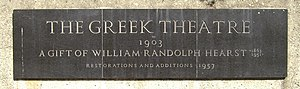 Hearst Greek Theatre - Image: The Greek Theatre Berkeley Sign