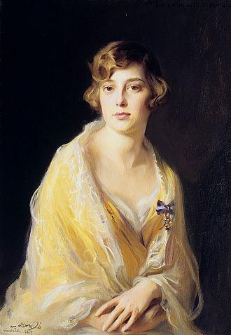Infanta Beatriz of Spain - Portrait by Philip de László, 1927