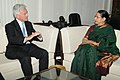 The Minister for International Development (UK), Mr. Alan Duncan calls on the Minister of State (Independent Charge) for Women and Child Development, Smt. Krishna Tirath, in New Delhi on May 01, 2013.jpg