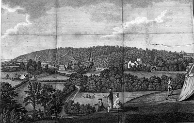 The Natural History and Antiquities of Selborne - North East view of Selborne from the Short Lythe.jpg