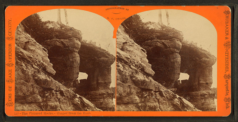 File:The Pictured Rocks - chapel from the east, from Robert N. Dennis collection of stereoscopic views.jpg