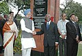The Prime Minister, Dr. Manmohan Singh shaking hands with the President of South Africa Mr. Thabo Mbeki after unveiling the Plaque at Resistance Monument in Durban, South Africa on October 01, 2006.jpg