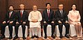 The Prime Minister, Shri Narendra Modi and the Prime Minister of Japan, Mr. Shinzo Abe with the participants of the India-Japan Business Leaders Forum, in New Delhi on December 12, 2015 (1).jpg