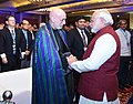 The Prime Minister, Shri Narendra Modi at the Opening Session of the Second Raisina Dialogue with the former President of the Islamic Republic of Afghanistan, Mr. Hamid Karzai, in New Delhi on January 17, 2017.jpg