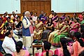The Prime Minister, Shri Narendra Modi interacting with the Anganwadi workers from across the country, in New Delhi on September 19, 2018.JPG