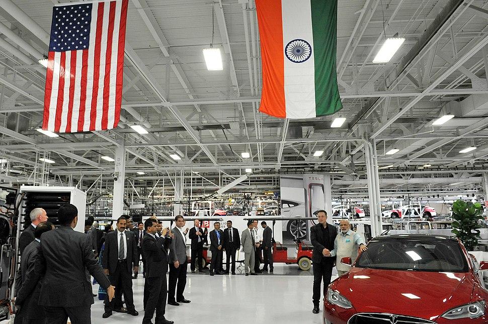 The Prime Minister, Shri Narendra Modi with the CEO of Tesla Motors, Mr. Elon Musk, in San Jose, California on September 26, 2015