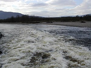 English: The River Lochy Taken from the footbr...