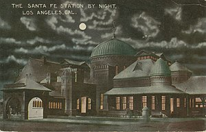 La Grande Station - Station at night, about 1915