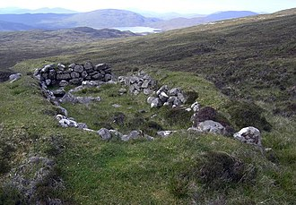 Shieling - A ruined shieling close to the Loch Langavat path, Isle of Lewis