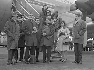 The Swingle Singers were the first group and Foreign act to win the Award and are still active today. The Swingle Singers (1964).jpg