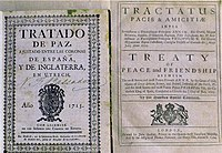 First edition of the Anglo-Spanish treaty