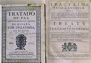 Peace of Utrecht series of peace treaties ending the War of the Spanish Succession