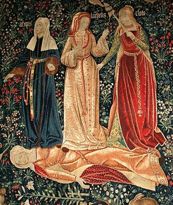 Early 16th-century millefleur tapestry depicti...