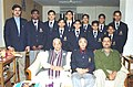 The Union Minister for Human Resource Development Dr. Murli Manohar Joshi meets the Indian contingent for International Gymnastic Championship at Budapest, in New Delhi on December 11, 2003.jpg