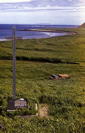 Vitus Bering - The grave of Vitus Bering on Bering island