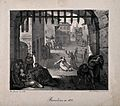The plague in Barcelona in 1821. Lithograph by N.E. Maurin. Wellcome V0010636.jpg