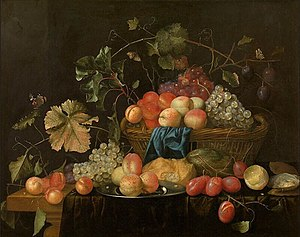 Theodoor Aenvanck - Fruit in a basket, 1653