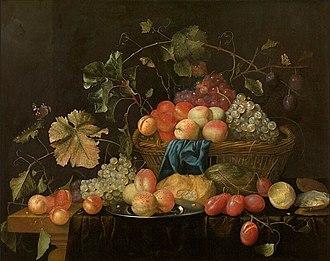 Theodoor Aenvanck - Fruit in a basket, 1653