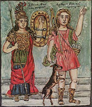Theophilos Hatzimihail - Image: Theofilos Athena and Artemis