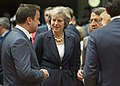 Theresa May and Xavier Bettel at Oct 2016 EU Council.jpg