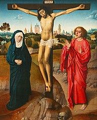 Le Christ mort sur la Croix, la Sainte Vierge