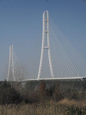 G42 Shanghai–Chengdu Expressway - The expressway crosses the Yangtze River over the Third Nanjing Yangtze Bridge