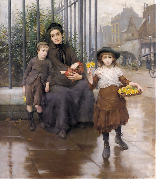 Thomas B. Kennington - The pinch of poverty - Google Art Project