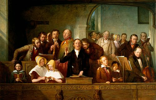 The Village Choir (c. 1847; Victoria and Albert Museum, London) Thomas Webster - A Village Choir.jpg