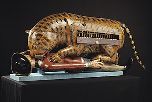 Tipu's Tiger with keyboard on display 2006AH4168.jpg